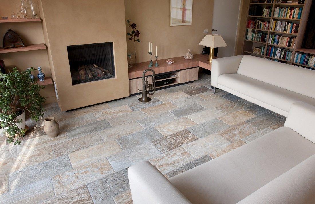 Vloertegels woonkamer kroon vloeren in steen for Vloertegels woonkamer